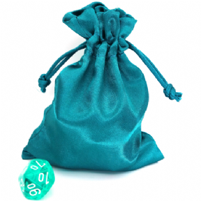Teal Small Satin Dice Bag
